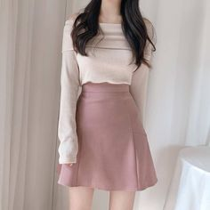 Korean Fashion Dress, Ulzzang Fashion, Kpop Fashion Outfits, Girls Fashion Clothes, Girly Outfits, Cute Casual Outfits, Stylish Outfits, Clothes Women, Korean Outfits