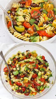 Pasta Salad Recipes, Healthy Salad Recipes, Whole Food Recipes, Dinner Recipes, Cooking Recipes, Appetizer Salads, Dinner Salads, South African Salad Recipes, Summer Pasta Salad
