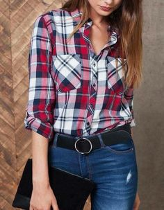 Cowgirl Outfits: Top 30 Cowgirl Outfits - Part 9 Plaid Outfits, Trendy Outfits, Trendy Fashion, Girl Fashion, Cute Outfits, Fashion Outfits, Fashion Ideas, Cowgirl Outfits For Women, Outfits Con Camisa