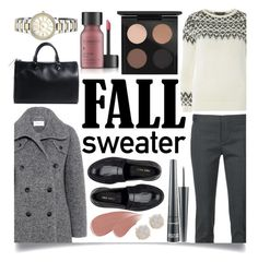 """""""Cozy Fall Sweaters"""" by ittie-kittie ❤ liked on Polyvore featuring Carven, Dorothy Perkins, Dsquared2, Nine West, Louis Vuitton, MAC Cosmetics, Melissa Joy Manning, Perricone MD, Anne Klein and Burberry"""