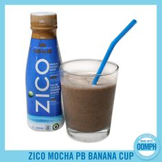 Try the new ZICO Mocha Peanut Butter Banana Cup smoothie recipe! looks amazing! Best Peanut Butter Brand, Peanut Butter Brands, Peanut Butter Banana, Almond Butter, Zico Coconut Water, Coconut Water Drinks, Best Smoothie Recipes, Healthy Smoothies, Healthy Drinks