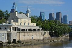 Fairmount Water Works and the City Skyline