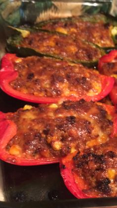 I love the smokey flavor of poblanos, but sweet peppers may be substituted.  Adjust the amount of sweet peppers used if very large.  Poblanos are smaller.  Dont leave off a dollop of sour cream for it mellows the taste. A dish to be ready in 30 minutes for your own fiesta.  From Home Made Simple.