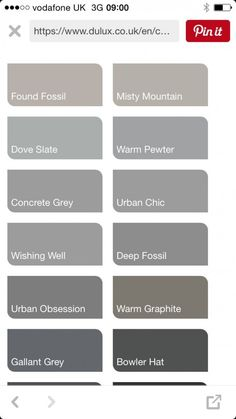 shades of grey color chart paint shades of grey paint colours grey excellent exterior colour chart on 0 wall colours paint shades of grey colour chart names Dulux Paint Colours Grey, Light Grey Paint Colors, Warm Gray Paint, Warm Grey, Exterior Paint Colors For House, Paint Colors For Home, House Colors, Paint Color Codes, Paint Color Chart