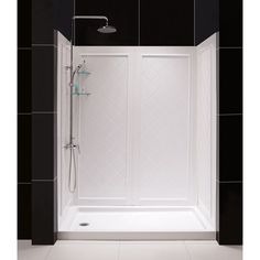 DreamLine Qwall-Tub White Acrylic Bathtub Wall Surround (Common: 60-in x 32-in; Actual: 60-in x 60-in x 32-in)
