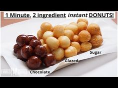 Two ingredient Donuts Donut Recipe No Yeast, Easy Donut Recipe, Yeast Donuts, Baked Donuts, Köstliche Desserts, Dessert Recipes, 2 Ingredient Recipes, Churros, Beignets