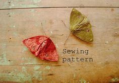 Costura de patrón / polilla o mariposa PDF coser tutorial Willowynn