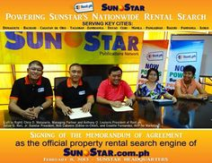 Taken last February 8, 2013 during the official signing of partnership between Sunstar.com.ph and Rent.ph.  www.Rent.ph