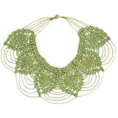 Necklace and earrings with big crochet leaves - chart / Collar y pendientes con grandes hojas de ganchillo - diagramas
