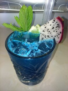 Blue Mai Tai with dragon fruit    Εταιρεία Bar Catering | επαγγελματικές υπηρεσίες Μπάρ | party | wedding | event   Destination wedding bar catering with special cocktails, Greece, Athens, Greek Islands   Www.yourbartender.gr