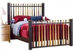 baseball headboard - here's another headboard for you to get two million repins