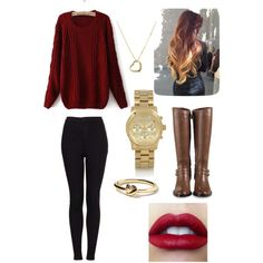 Fall outfit idea... But obviously not the red lipstick!