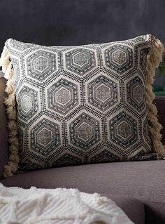 b125b16c20a6 Hexagon medallion cushion 60 x 60 cm