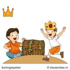 Koningsschat zoeken, koningsspelen voor kleuters, kleuteridee.nl ,9 . Castle Party, Kings Day, Kids Gifts, Bowser, Holland, Pikachu, Preschool, Arts And Crafts, Family Guy