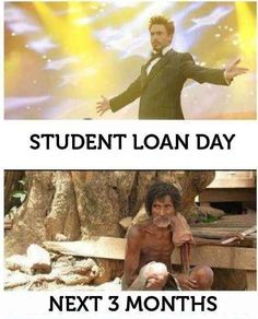 Haha 20 things college students will understand. If you take out a student loan, go to the right place. We suggest peer to peer lenders... http://thelendingmag.com/money-meme/