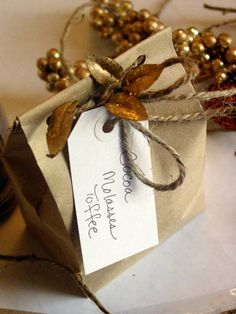 paper bag gift wrap with jute