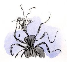 Miss Spider crying - Quentin Blake Quentin Blake Illustrations, Roald Dahl, Book Illustration, Matilda, Childrens Books, Spider, Illustrator, Moose Art, Character Design