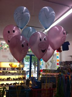 Elephant and Piggie balloons!!!!  If you're not familiar with Elephant and Piggie, you must go here: http://www.pigeonpresents.com/books.aspx