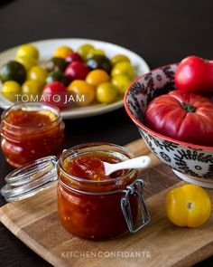 Tomato Jam | www.kitchenconfidante.com