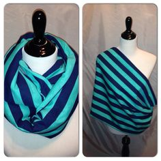 Infinity Scarf/ Breast feeding cover aqua by DimpleCheekBoutique, $17.00