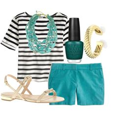 """""""Pop of Teal"""" by alexkay98 on Polyvore"""