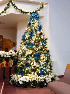 Blue and Beige Ocean Themed Christmas Tree | Flickr - Photo Sharing!