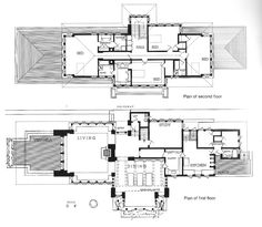 Original construction plans for The Winslow House 1894 by Frank