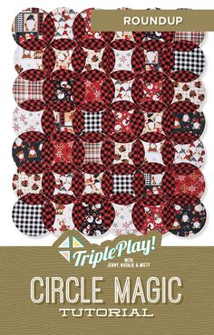 Discover Circle Magic in the latest Triple Play from Missouri Star Quilt Co! Using the new Circle Magic Template, Jenny, Natalie and Misty stitch up three unique new designs including the fabulous Roundup quilt! Follow the link below to watch the quilting tutorial now! #MissouriStarQuiltCo #RoundupQuilt #CircleMagicQuilt #TriplePlay #CircleMagic #QuiltingTutorial #HowToQuilt #QuiltPattern #Sewing #Quilt #LayerCakeQuilt #FabricCrafts #CircleAesthetic Circle Quilt Patterns, Circle Quilts, Star Quilt Blocks, Star Quilts, Quilting Tips, Quilting Tutorials, Quilting Projects, Msqc Tutorials, Layer Cake Quilts