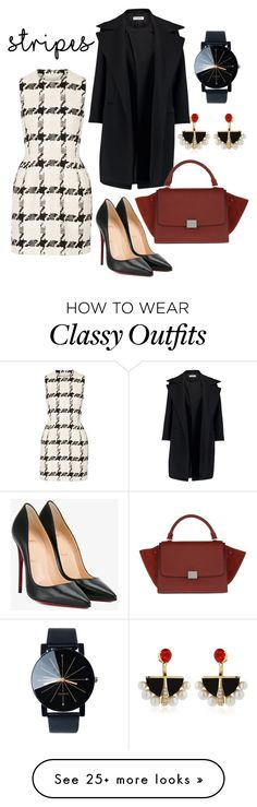 """""""Classy chic"""" by jazmin-chavez24 on Polyvore featuring Alexander McQueen, Christian Louboutin, Jil Sander, CÉLINE and Lalique"""