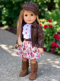 Motorcycle Design, Motorcycle Style, Motorcycle Outfit, Motorcycle Jacket, Diy Projects Baby Shower, American Girl Clothes, American Dolls, 18 Inch Doll, Doll Clothes Patterns