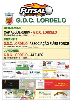 Futsal: GDC Lordelo   Jogos Fim-de-semana  > 19 e 20 Janeiro, 2013