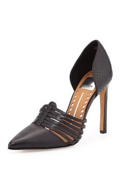 Dolce Vita Kisa Leather Pump, Black - (6) by Dolce Vita :: Clozette Shoppe