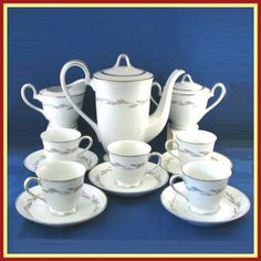 Have you ever had a get together with friends or family and served coffee with snacks? My Grandmother used to use a china set like this after big family dinners to serve coffee to the adults while the children played.  This beautiful coffee set by Noritake is in the Graywood pattern and would be a fun way to start a new tradition at your house. $124.95