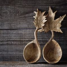Spoons from wood by Giles Newman