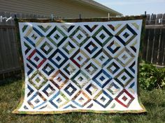 My Summer In The Park Quilt made from batiks.