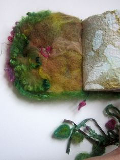 reserved  handmade journal felted wool book from by beautifulplace