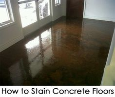 How to Stain Concrete Floors. I know there would be an echo, but it would be a cheap fix, until we have more