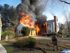 A Potomac home suffered over $600,000 in damages after a fire Monday afternoon. Firefighters were dispatched shortly after 4:00 p.m. to the 12400 block of Willow Green Court in Potomac for the report of a house fire. Courtesy of Rockville Volunteer Fire Dept.