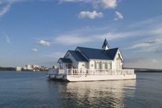 """The Floating Chapel"" - the only floating church in America; the captain performs wedding ceremonies after they've departed-- because ships' captains can do that."