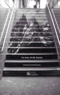 Brilliant installation by the American Disability Association