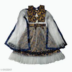 Lehenga Cholis Modern Trendy Kids Girls Lehanga Choli Top Fabric: Cotton Silk Lehenga Fabric: Jacquard Dupatta Fabric: Net Sleeve Length: Short Sleeves Top Pattern: Zari Woven Lehenga Pattern: Zari Dupatta Pattern: solid Stitch Type: Stitched Multipack: 1 Sizes:  4-5 Years (Lehenga Waist Size: 19 in Lehenga Length Size: 20 in Duppatta Length Size: 1.5 m)  3-4 Years (Lehenga Waist Size: 19 in Lehenga Length Size: 20 in Duppatta Length Size: 1.5 m)  7-8 Years (Lehenga Waist Size: 19 in Lehenga Length Size: 20 in Duppatta Length Size: 1.5 m)  9-10 Years (Lehenga Waist Size: 19 in Lehenga Length Size: 20 in Duppatta Length Size: 1.5 m) Country of Origin: India Sizes Available: 3-4 Years, 5-6 Years, 7-8 Years, 9-10 Years   Catalog Rating: ★4.2 (472)  Catalog Name: Modern Trendy Kids Girls Lehanga Cholis CatalogID_1065271 C61-SC1137 Code: 836-6682261-3171