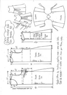 Vestido envelope dupla face evasê - DIY - molde, corte e costura - Marlene Mukai - - Cc Tls - Diy Clothing, Sewing Clothes, Clothing Patterns, Apron Dress, Diy Dress, Aprons Vintage, Vintage Sewing, Pinafore Pattern, Diy Couture