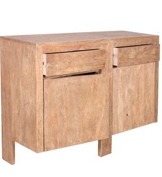 Credenza Naturale Legno massello di sheesham CS-181088 X 129 X 40 CM | Arts of India – Italy