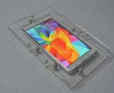 Samsung Galaxy Tab 3 Lite Wall Mount Acrylic Security Enclosure for POS, Kiosk, Store Display Vesa Mount, Galaxy Tab S, Samsung Galaxy, Pos Display, Ipad Stand, Computer Accessories, Kiosk Store, Clear Acrylic