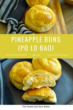 Pineapple buns — The Sweet & Sour Baker Bakery Recipes, Donut Recipes, Dessert Recipes, Cooking Recipes, Asian Desserts, Asian Recipes, Chinese Desserts, Asian Foods, Chinese Recipes