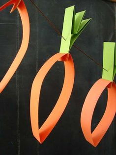 Sunday School 2015 easter Crafts, Carrot Garland, Paper Crafts. Home decor