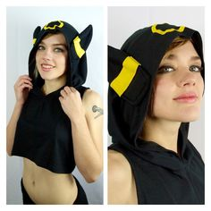 Your Summer Wardrobe Needs These Geektastic Hooded Crop Tops Girls Crop Tops, Crop Top Hoodie, Grey Crop Top, Grey Shirt, Summer Wardrobe, Alternative Fashion, Cool Outfits, Clothes For Women, Pokemon Cosplay
