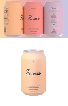 Stay Cool, Calm & Collected With Recess CBD Infused Seltzer Water | Dieline