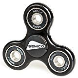 SEMCO Products Fidget Spinner Toy | Promotes Anxiety & Stress Relief | Handheld Gadget for ADD Autism ADHD | Quiet Smooth Operation | Work Home School Relaxation BLACK Color Reviews