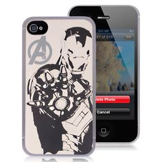 Premium Iron Man iPhone 4 Cases - Avengers Silver Metallic Hard Case For Apple iPhone 4 4S $4.58 #iPhone4 #Cases #back #covers #awesome #cheap #free #shipping #avengers #superman #batman #spiderman #revengers #phone #accessories #iPhone #smartphones Iphone 4 Cases, Iphone 4s, Apple Iphone, Cheap Iphones, Batman Spiderman, Superman, Avengers, Smartphone, Free Shipping